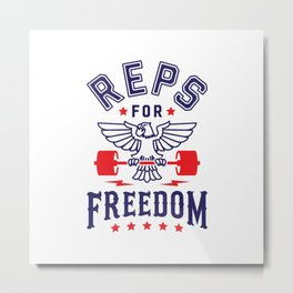 Reps For Freedom Metal Print