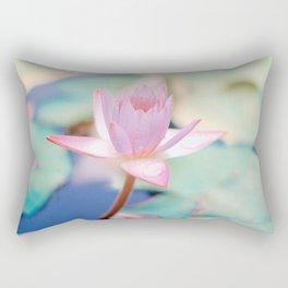 Cute Pink Blooming Lotus Rectangular Pillow
