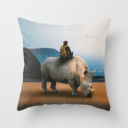 Looking Nowhere Throw Pillow