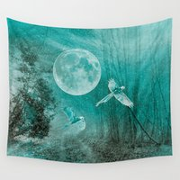 valentina Wall Tapestries featuring FOREST DREAMING by Catspaws