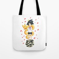 the little prince Tote Bags featuring Little Prince by Freeminds