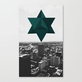 Star Tetrahedron Descending Canvas Print