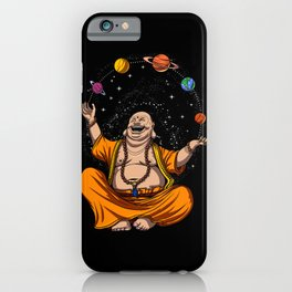Zen Yoga Buddha Juggling Space Planets Meditation iPhone Case