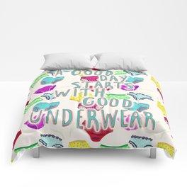 Underwear Happiness Comforters
