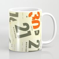 calendar Mugs featuring CLOSEUPS - Calendar Sheets by Cordula Kerlikowski