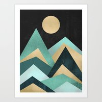 waves Art Prints featuring Waves by Elisabeth Fredriksson