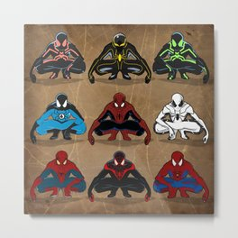 Spider-man - The Year of the Costumes Metal Print