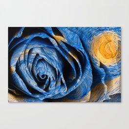 Starry Night Rose Canvas Print