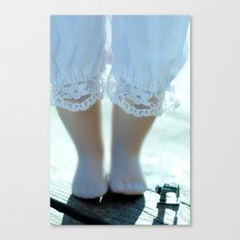 Alice's Escapades ~ Alice & The Sewing Machine  Canvas Print