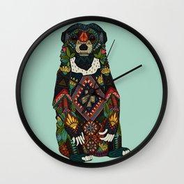 sun bear mint Wall Clock
