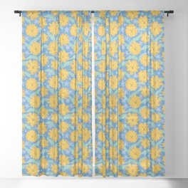Dandy-Lions Sheer Curtain