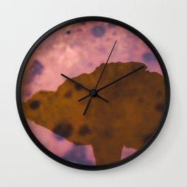 Amethyst Deceiver Mushroom Reflection Above Rust  Wall Clock