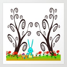 Bunny in Wonderland Art Print