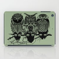 owls iPad Cases featuring Owls of the Nile by Rachel Caldwell