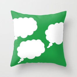 thoughts on green Throw Pillow