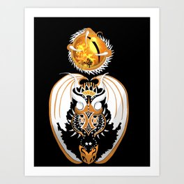 Cosmic Copperhead Dragon Art Print