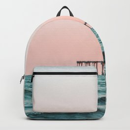 Beach Pier Sunrise Backpack