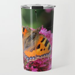 Butterfly on valerian flower Travel Mug