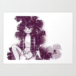 Morado y blanco Art Print