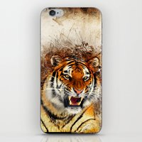 fierce iPhone & iPod Skins featuring Fierce by Robin Curtiss