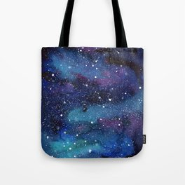 Galaxy Space Painting Stars Cosmic Universe Nebula Art Tote Bag