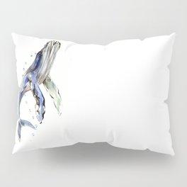 Humpback Whale, swimming whale artwork Pillow Sham