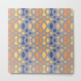 Swirl Crescent Metal Print