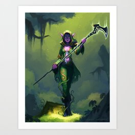 Elf Warlock, Level 2 Art Print