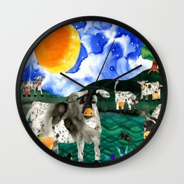 Cow Meadow Wall Clock