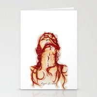 blood Stationery Cards featuring Blood by Raquel C. Hita - Sednae