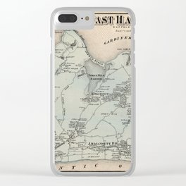 Map of East Hampton 1873 Clear iPhone Case