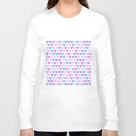 Colorful hearts VII Long Sleeve T-shirt