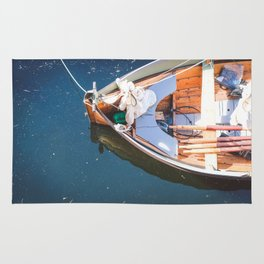 Nautical Fine Art Photography Boat in Water Rug