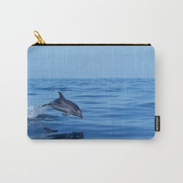 Spotted dolphin jumping in the Atlantic ocean Carry-All Pouch