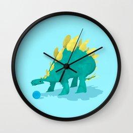 Stegosaurus and his Ball Wall Clock