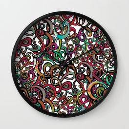 Squiggles in a Tangle Wall Clock