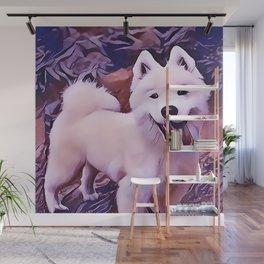 American Eskimo Dog Wall Mural