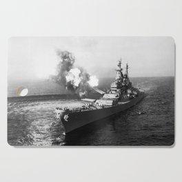 USS Missouri Firing Salvo - Korean War - 1950 Cutting Board