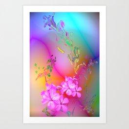 Touching Rainbows Art Print