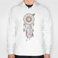 Hoodies featuring Lakota (Dream Catcher) by Rachel Caldwell