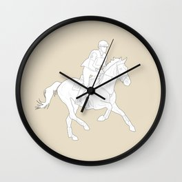 Eventing in Tan Wall Clock