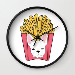 Frenchie Fries Wall Clock