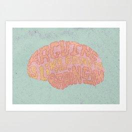 GAVIN McINNES ON ARGUING Art Print