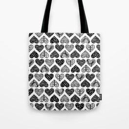 Wild Hearts in Black and White Tote Bag
