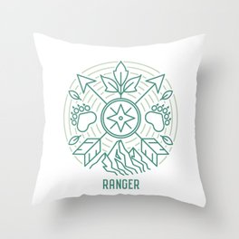 Ranger Emblem Throw Pillow