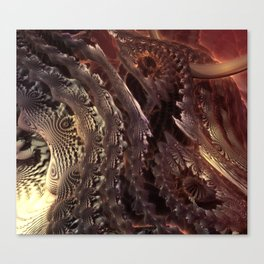 Dragon Scale Coils Fractal Canvas Print