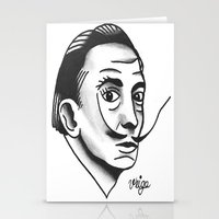 dali Stationery Cards featuring Dali by @VEIGATATTOOER