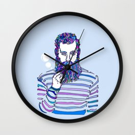 Sea Wolf Ghost (Blue Version) Wall Clock