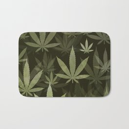 Marijuana Cannabis Weed Pot Leaves Bath Mat