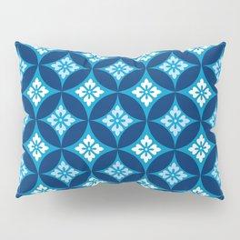 Shippo with Flower Motif, Indigo Blue and White Pillow Sham